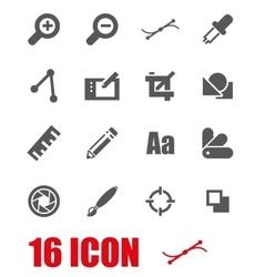 grey graphic design icon set vector image