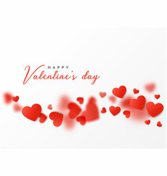 Happy valentines day card design with floating vector