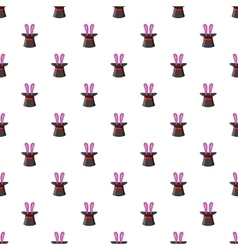 Hat with rabbit pattern cartoon style vector image