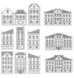 houses collection of old european buildings vector image