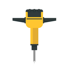 Impact rock drill icon flat style vector
