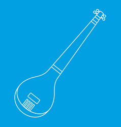 Indian guitar icon outline style vector