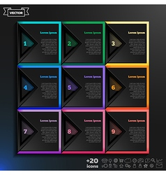 Infographic design with colorful squares vector image