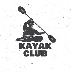 Kayak club vector