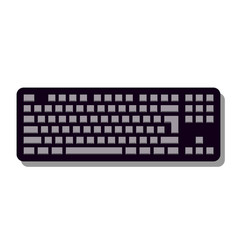 keyboard icon in trendy flat style isolated on vector image