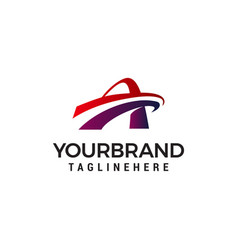 Letter a faster logo design concept template vector