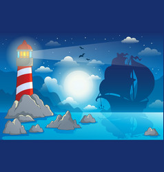 Lighthouse theme image 4 vector