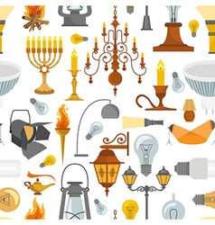 Lighting seamless pattern vector image