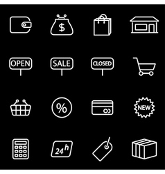 line shop icon set vector image