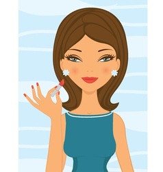 Lipstick girl vector image vector image