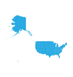 Map of united state of america mercator high vector