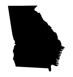 map us state georgia vector image