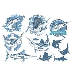 Marlin fishing vector