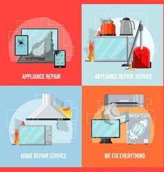 modern flat repair service concept-damaged vector image