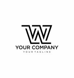 monogram w logo vector image