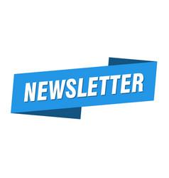 Newsletter banner template newsletter ribbon vector