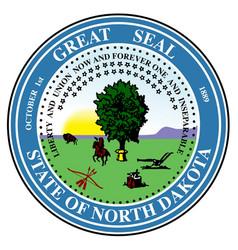 North dakots state seal vector