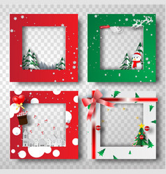 paper art and craft of christmas border frame vector image