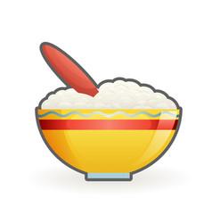 porridge bahealthy food cartoon design vector image
