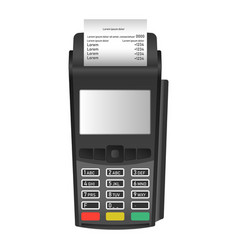 pos terminal icon realistic style vector image