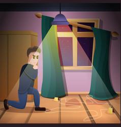Private crime investigation concept background vector