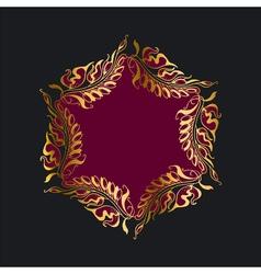 purpur wreath Art Nouveau style vector image