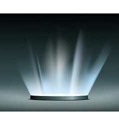 Rays light hologram vector