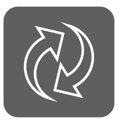 Refresh Arrows Flat Squared Icon vector