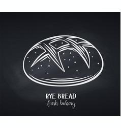 rye bread chalkboard style vector image