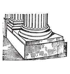 Scamillus the piece of stone roman architecture vector