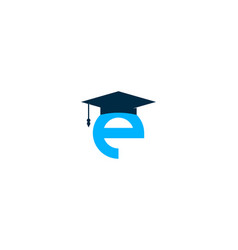 school letter e logo icon design vector image