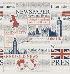 Seamless background on theme uk and london vector