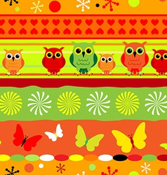 Seamless colorful striped pattern vector image