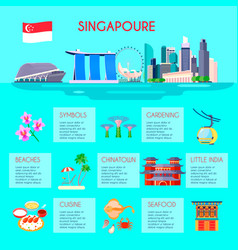 Singapore culture infographic vector