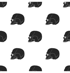 Skull icon in black style isolated on white vector