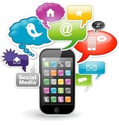 Smartphone app design vector