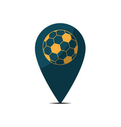 Soccer map pin sport flat design icon vector