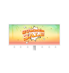 summer sale banner with exploding speech bubble on vector image