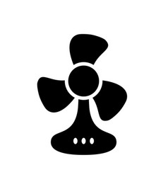 table fan black monochrome icon vector image