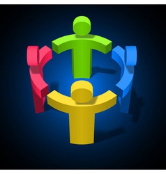 Team Work Friendship Partnership Social Network vector image