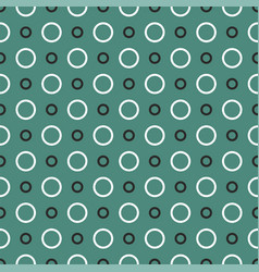 tile pattern with black and white dots on green vector image