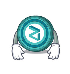 Tired zilliqa coin mascot cartoon vector