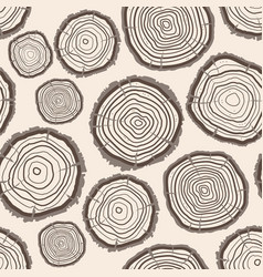 Tree rings trunk pattern background vector