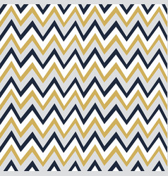 Trendy golden white and navy blue chevron pattern vector