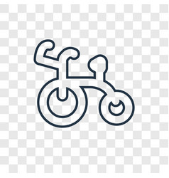 tricycle concept linear icon isolated on vector image