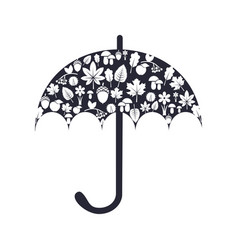 umbrella wiith autumn pattern vector image
