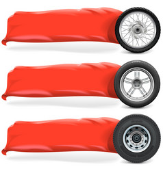 Wheels with Banner vector