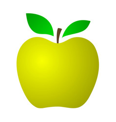 yellow apple on a white background vector image