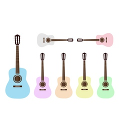 Beautiful Colorful Classical Guitars vector image vector image