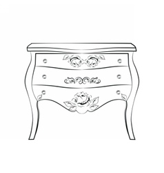 Classic furniture with ornaments vector
